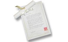 Bomboniere - Lettera pergamena