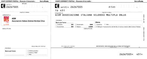 Associazione italiana sclerosi multipla sezione for Causale bonifico ristrutturazione 2017