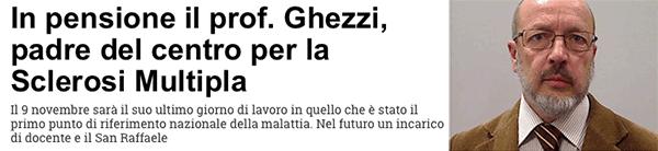 bannert VN Prof Ghezzi va in Pensione
