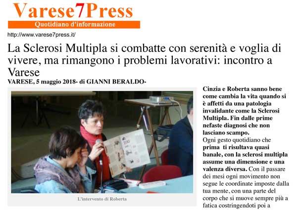 Banner Articolo Varese7Press Convegno AISM VA 06052018