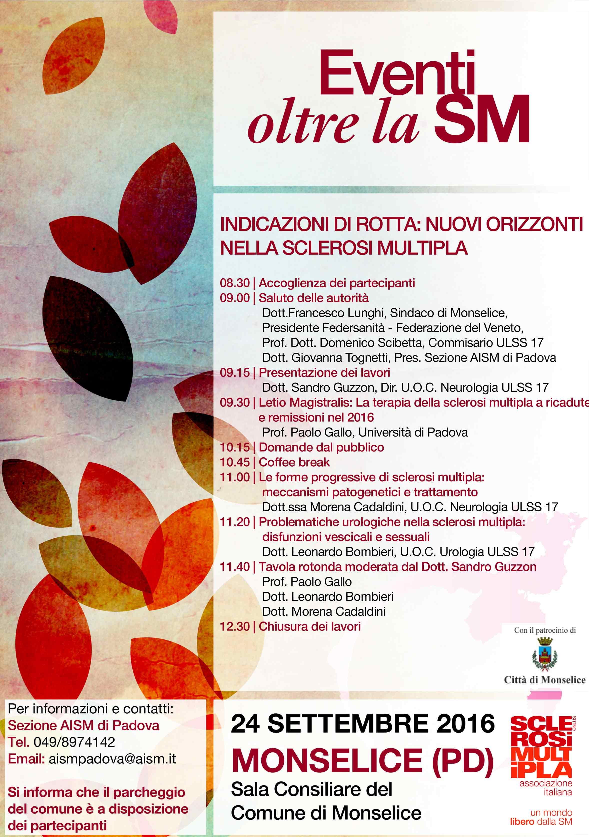 Oltre la SM, autunno 2016