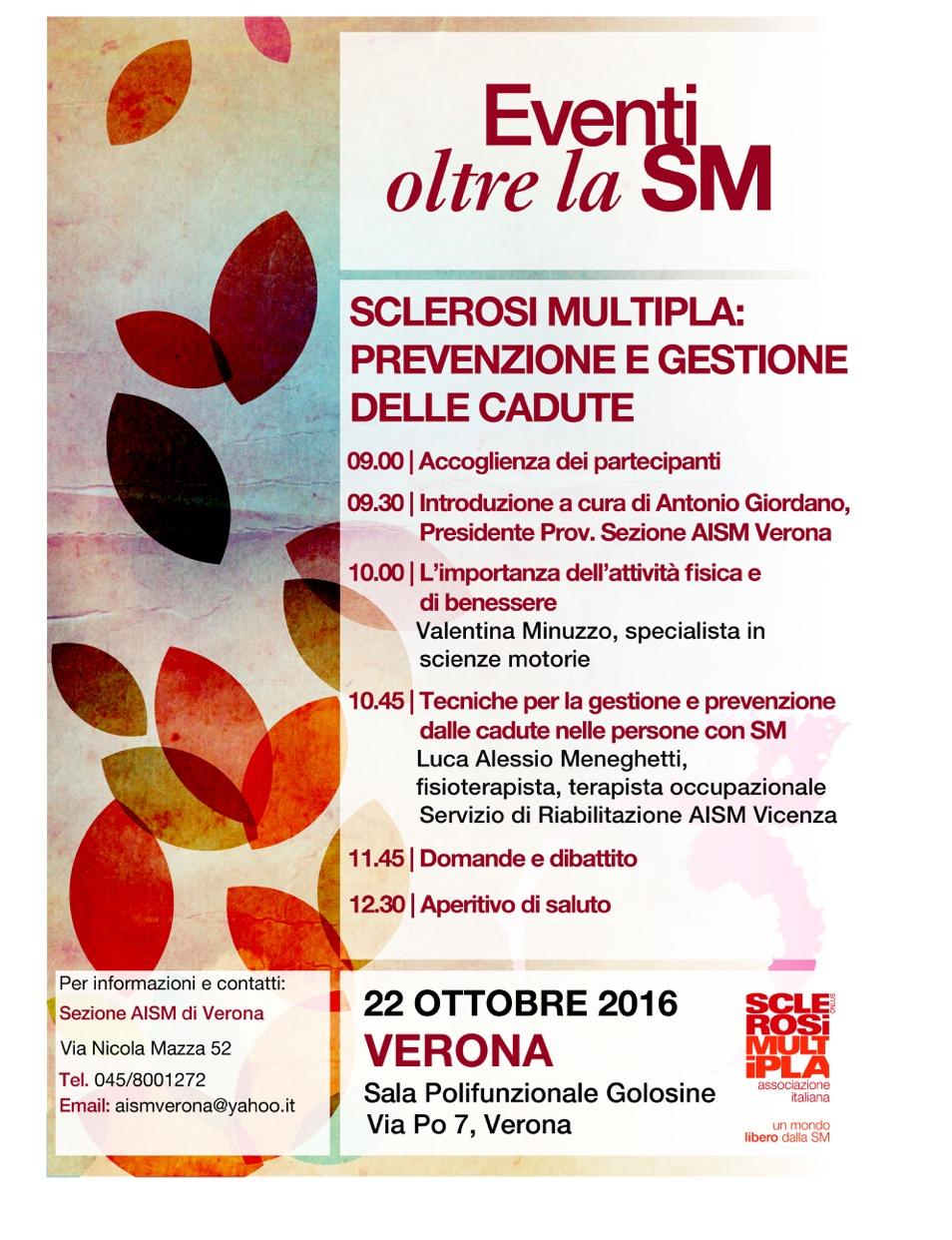 Convegno oltre la SM, 22 ottobre, Verona