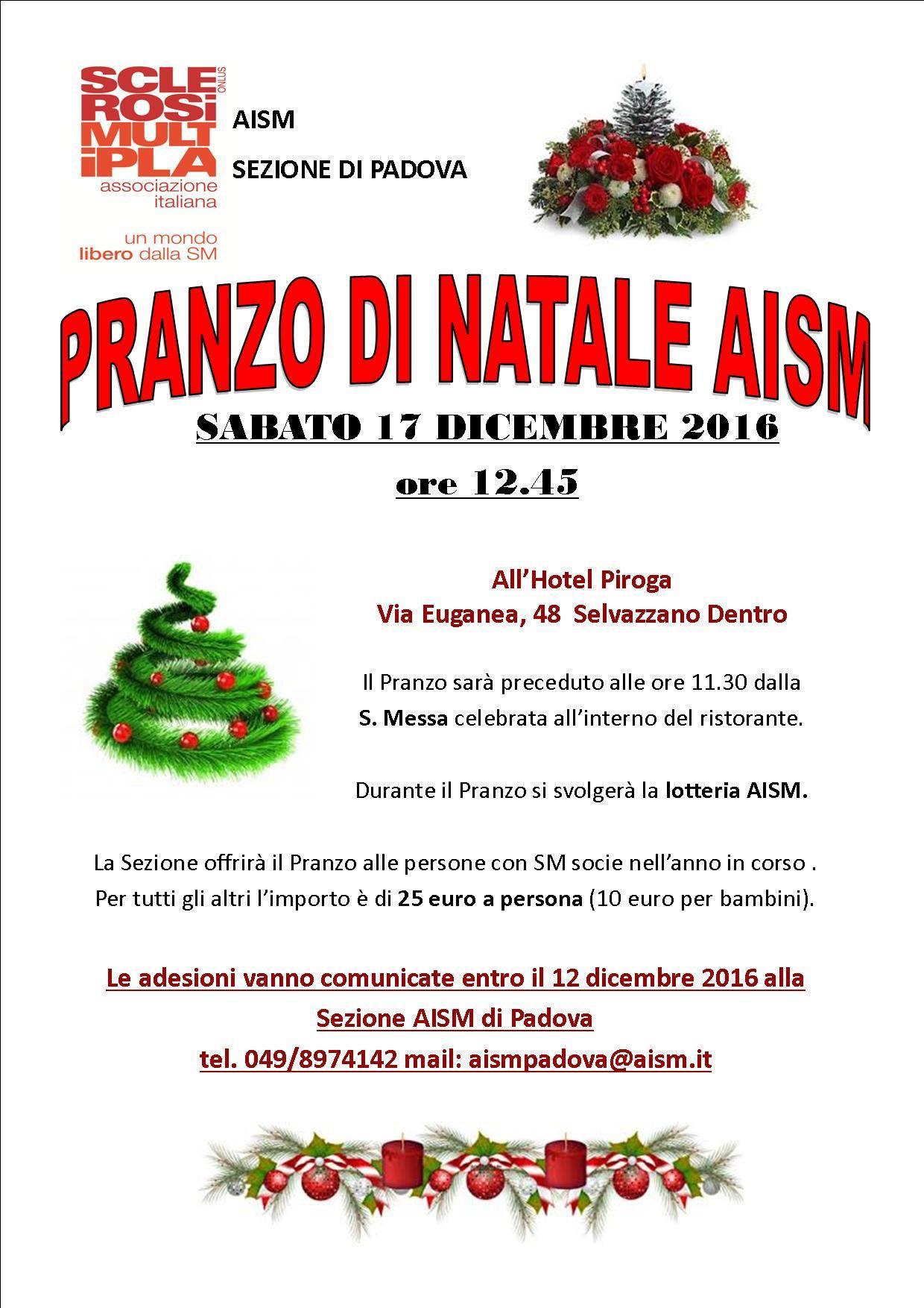 Pranzo di Natale 17 dicembre 2016